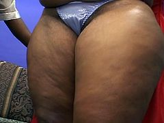 Two busty black milfs having lesbian sex and licking their black pussy deep and showing her tongue skills.Big bouncy beauty Chataque needs some tasty lesbian action from Sweet Vanilla, ending with some great dildoing!