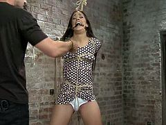 Lyla Storm enjoys getting her vag fingered and toyed in BDSM clip