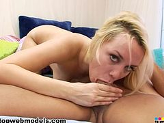 Sensual beauty Annette Schwartz likes to amazes with her lips during top POV oral