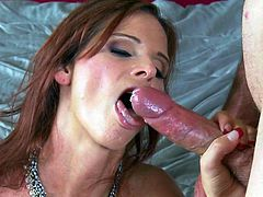 Having her tight ass drilled by a big cock makes hot milf to scream loud