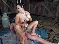There's cock torture, ass strapon fucking, rope bondage, butt spanking and more in this femdom video!