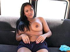 Insolent beauty likes to fuck and get dirty during top bang bus porn scene
