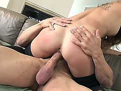 Roxy Jezel shows off her lusty Asian side with this rather fetching man who wants to put his dick right down her throat. She climbs on top of his big dick and feels it slide in deep as she works herself further and further down that dong. Her legs stretch out wide and she throws her head back, screaming as the orgasm grips her and drives her crazy.