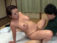 Japanese mature lady Neko Ayami is enjoying it