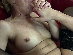 Hairy mature babe hard drilled