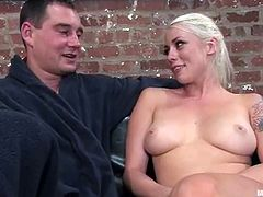 After strapon fucking his ass, Lorelei Lee will face sit the tied up guy and give him a nice cock ride too. Just for fun.