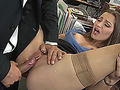 Hot beauty babe fucked really hard