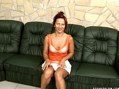 This woman needs at least three horny men to get full satisfaction! She lets them pee in her slutty mouth because that kind of thing turns her on.