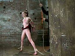 This teen girl Jessi Palmer comes to her master after classes to feel it once again. She gets tied up and starts being humiliated very slightly!