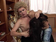 21 Sextury xxx clip provides you with a really voracious black haired slender cutie. This girlie opens her wet pussy and gets it licked by spoiled fat old dyke with saggy tits.