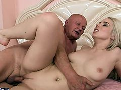 Well, this svelte blondie is surely sexy. Her tits are nice. Her ass is smooth and rounded. Wondrous cutie desires to be fucked from behind by spoiled old man for orgasm. Check out cutie in 21 Sextury xxx clip to jack off and jizz at once.