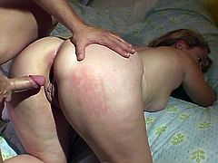 Araya Sunshyne is a chubby blonde hooker. Her pussy gets slammed rough in the most common positions. She moans a lot when his cock is buried deep in her cunt.