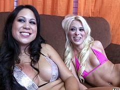 Welcome to enjoy this steamy Pornstar sex clip, where two pale booty gals with sweet tits enjoy licking each other's wet pussies and tickle the cunts passionately on the couch. Nymphos in heels are surely great pros in pussy eating. So check them out and cum at once!