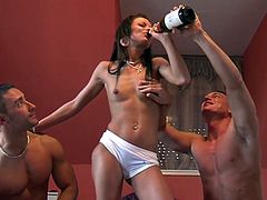 Drunk Isabel gets fucked rough in hot MMF video