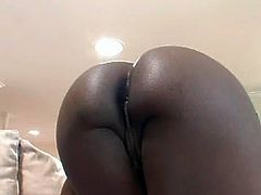 Horn-mad black and booty bitch provides a lucky fucktard with a solid blowjob for sperm. This owner of natural boobs and flossy rounded butt desires to be repaid right away by getting her already wet pussy licked tenderly.