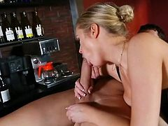 Katie Kox fucks the big cock bartender