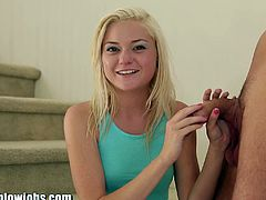 Watch the vicious blonde teen slut Chloe Foster devouring Alex Gonz's dong pov style in this hot vid.