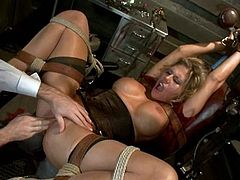 Submission is what Charisma Cappelli needed. Honey gets tied up and then James pokes her snatch with his huge cock. Nice sex and submission to watch!