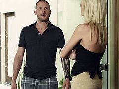 These two guys are living a life that makes us envy them. Their house is always full with hot chicks that need to fuck. The slicks have their ways with the ladies and damn, what ladies! As Eric is busy at the phone, his friend is busy with a hot brunette, licking her pussy, while a sexy blonde stalks them.