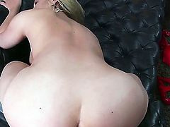 Sexy blonde Sarah with a huge sexy ass gets her wet tight pussy fucked hard by a big cock