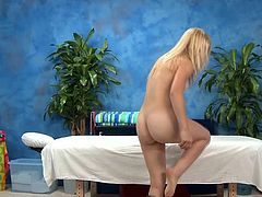 Hot and sexy 18 year mature Alyssa has fucked hard from backside from her massage therapist after se