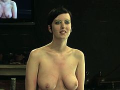 Lecherous brunette Cherry Torn is getting her punishment today. Some man puts her into fetters and beats her ass with a whip.