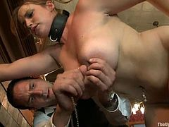 BDSM threesome with two amazingly hot chicks Bella Rossi and Cherry Torn! They get naked and make each other feel so amazing, being dicked and abused by their master!