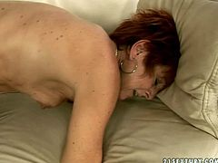 Outrageous old young fuck video with slutty granny. She is getting poked in her wet cunt lying on her side. Then she stands on her all four fucking hardcore in doggy sex position. This old granny is still sexually charged woman.