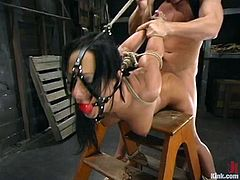 Sexy Brunette Sandra Romain Getting Fucked Hard In Kinky BDSM Fuck Session