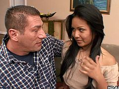 Lana Violet gets nude and masturbates against a wall in her boyfriend's living room. She uses a vibrator on her self and then heads over to her boyfriend to suck his dick. she undoes his jeans, pulls them down and deepthroats his stiff rod.