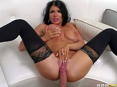 Romi Rain is a super horny dark haired pornstar with big tits and long legs who cant wait for another shoot. She asks Keiran Lee to fuck her needy pink pussy here and now. Watch buxom pornstar get satisfaction.