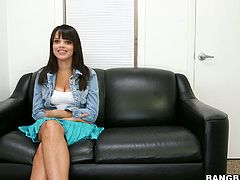 Sexy brunette is teasing you in hot Bang Bros sex video. She takes off her blouse and you can be pleased with her juicy appetizing tits.