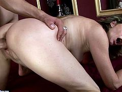 This pale mature housewife can't stop moaning while spoiled horny dude fucks her old cunt from behind tough. Pallid bitch with natural tits is worth checking out in steamy 21 Sextury xxx clip, cuz you'll jizz in a flash.