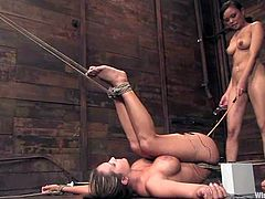Annie Cruz Dominates Trina Michaels and Has Fun with Toys in Lesbian BDSM