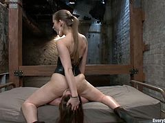 Dani Daniels is playing dirty games with Natalie Moore. She lets Natalie fuck her ass with all kinds of toys and then enjoys ardent fisting.