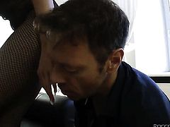 Milla Yul knows no limits when it comes to ass fucking with hard cocked bang buddy Rocco Siffredi