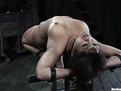 Kinky Asian girl gets her nipples tortured with claws and electricity. After that she gets tied up with straps and toyed.