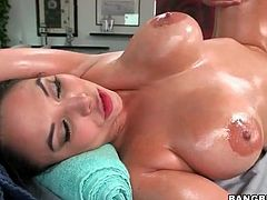 Oiled up Missy Martinez fucked after massage