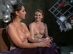 The elegant Payton Bell will end up moaning crazily in this lesbian femdom video when Isis Love dominates, tortures, toys and strapon fucks her.