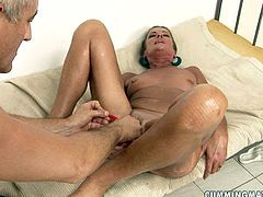 Insatiable daddy gives bad times to a salty mature. He pokes her streched anus with a dildo while tickling her vagina with a vibrator in steamy sex video by 21 Sextury.