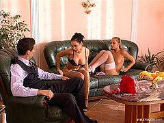And that's just one edge of this insane threesome sex with two fallen angels Maya Gold and Michelle Wild! Hotties are so perfectly sexy!