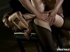 Sexy Tarra White gets her ass fucked and fingered near the piano