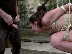 This desirable and smoking hot babe had chosen a BDSM way! Now she is a sex slave that is going to go through some BDSM perversions of her master.