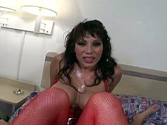 Ava devine anal in red stockings