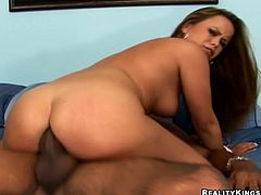Interracial sex with the slutty babe Kaci Starr
