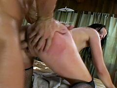 Gianna Michaels gets her snatch licked and fucked in the yard