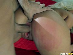 Summer Brielle is a dangerously sexy widow with long legs and big boobs. Gorgeous bare ass blonde sucks mediums stiff dick like crazy before she gets her neat tight pussy penetrated from behind. She loves getting banged again.
