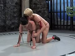 These two smoking hot and sexy babes are going to fight each other to proceed to the finals of Ultimate Surrender Championship! Damn, chicks are so wild!