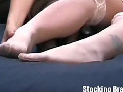 Come and enjoy this perverse free porn video where some nasty and horny amateur lesbian sluts misbehave. These bitches have a wild nylon fetish that makes things much more interesting.