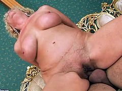 Her hairy snatch looks really disgusting but her lover doesn't care. He licks it greedily like a true cunt licker. Then she rides him in reverse cowgirl position.